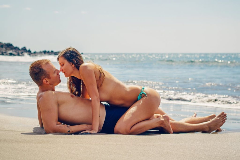 Couple on the beach.